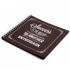 Блокнот с черными листами Success