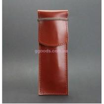 Чехол-футляр для ручек кожаный Коньяк (+эко-ручка и карандаш)
