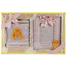 Подарочный набор для девочки- фотоальбом и фоторамка