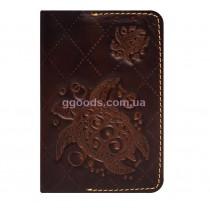 Обложка для паспорта Turtle Brown