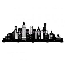 Вешалка настенная большая Город