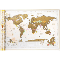 Скретч карта мира на английском языке Discovery Map Gold