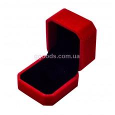 Бархатная коробка для кольца красная. Уценка!