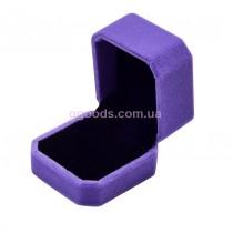 Коробочка для кольца фиолетовая бархатная