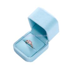 Футляр для кольца голубой. Уценка!