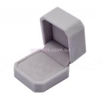 Коробка для кольца бархатная серая