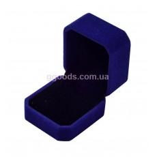 Коробка под кольцо бархатная синяя