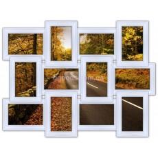 Деревянная фоторамка на 12 фото Классика