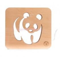 Деревянный ночник Панда