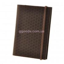 Кожаная обложка для паспорта Карбон Орех