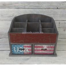 Органайзер для косметики мини USA, 2 ящика