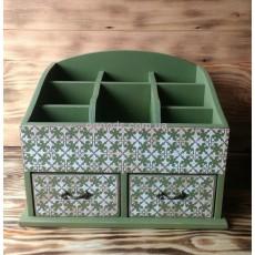 Органайзер для косметики мини Green, 2 ящика