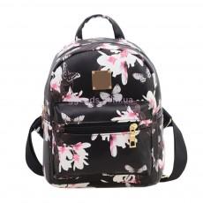Мини-рюкзак женский Flowers черный