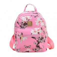 Мини-рюкзак женский Flowers розовый
