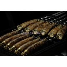 Шампура с деревянными ручками Золотое руно