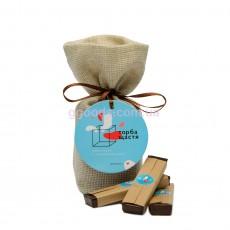 Шоколад с предсказанием Торба щастя (7 шоколадок)