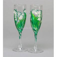 Бокалы для шампанского «Ландыши»