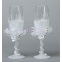 Свадебные бокалы «Нежный вальс»