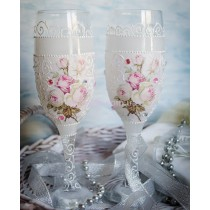 Свадебные бокалы «Розы»