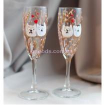 Бокалы для шампанского Влюбленные совы