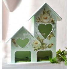 Чайный домик «Винтаж» мятного цвета
