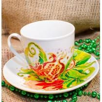 Чашка с блюдцем «Гранат»