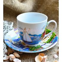 Чашка с блюдцем «Морской бриз»