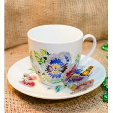 Чашка с блюдцем «Незабудки»