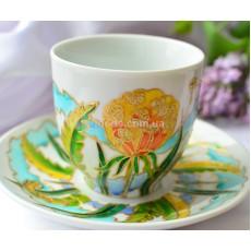 Чашка с блюдцем «Одуванчики»
