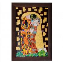 Витражная картина «Поцелуй» Г. Климт