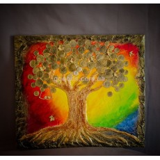 Картина панно «Денежное дерево Радуга»