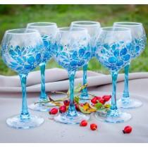 "Набор бокалов для вина ""Аквамарин"""