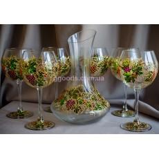 """Набор винных бокалов с декантером """"Grape"""""""