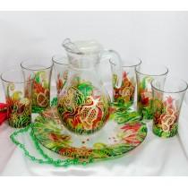 Набор посуды с росписью Король Гранат