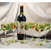 Набор бокалов для вина «Виноградная лоза»