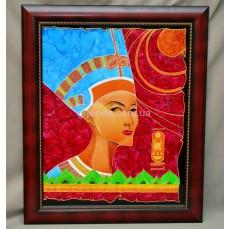 """Витражная картина """"Нефертити – царица Египта"""""""
