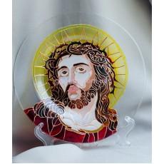 Витражное блюдо «Иисус в терновом венце»