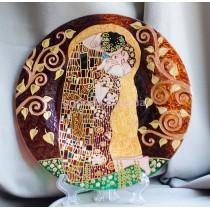 Блюдо витражное «Поцелуй»  Г.Климт