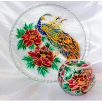 Блюдо и ваза «Жар-птица и пионы»