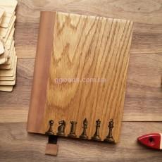 Деревянный блокнот А5 Шахматы