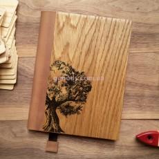 Блокнот с деревянной обложкой Дерево жизни