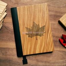 Деревянный блокнот Кленовый лист