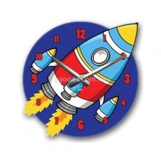 Детские настенные часы Ракета