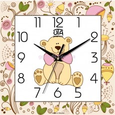"""Часы детские """"Плюшевый мишка"""""""
