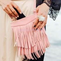 Женская кожаная сумка Барби