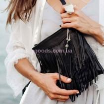 Женская кожаная мини сумка Оникс