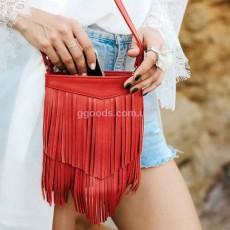 Женская кожаная сумка Рубин