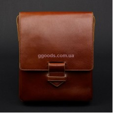 Мужская сумка-мессенджер Компакт коричневая