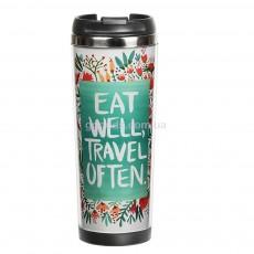 Термокружка Eat well, travel often