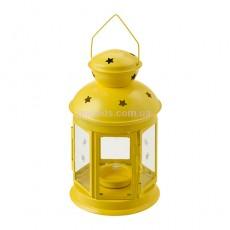 """Фонарь для свечи """"РОТЕРА"""" желтый"""